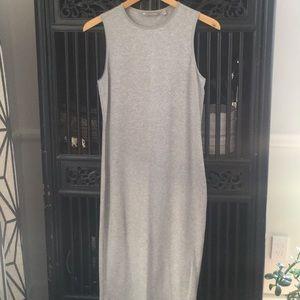 Athleta gray ribbed tank dress